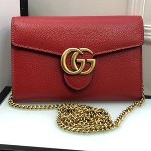 Gucci Red GG Shoulder Bag